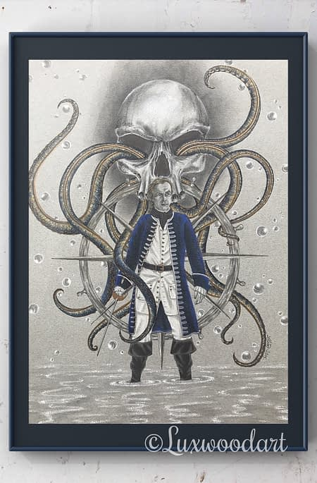 James McGraw - original illustration - Black Sails art