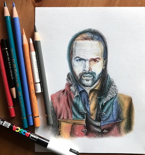 Klaus - Original color pencil drawing - Hero Corp fanart