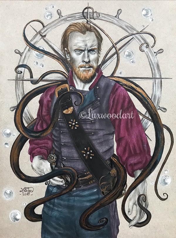 Monster original drawing by Lux Wood - Black sails fanart