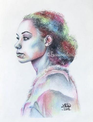 Logan Browning - Original color pencil drawing - fanart