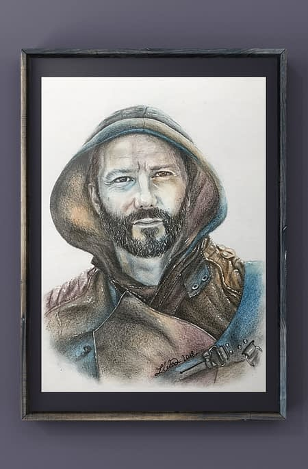 Doug - Original color pencil drawing - Hero Corp fanart