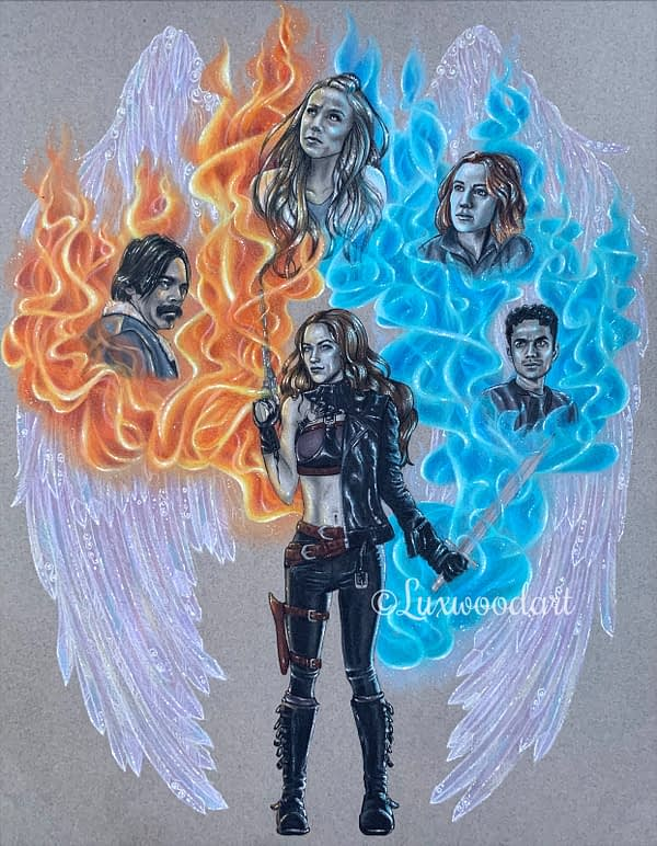 The end of times - Mixed media illustration on paper - Wynonna Earp fanart