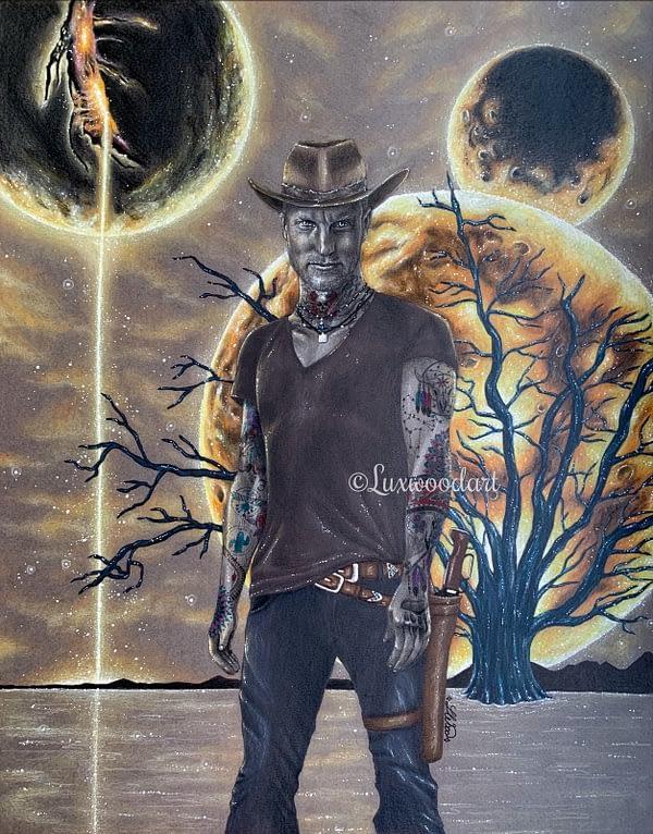 The Planet Cracker - original illustration - Zombieland art