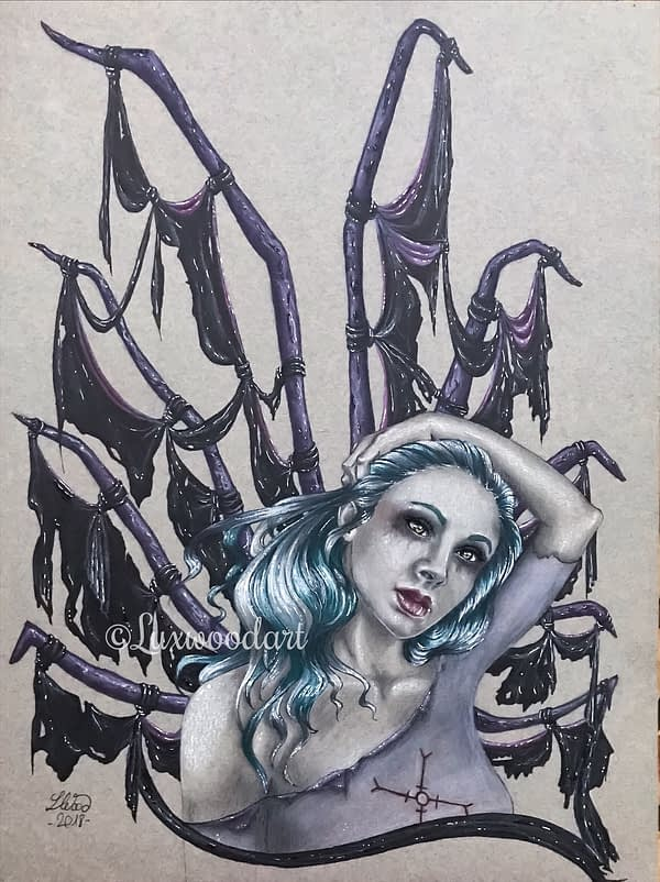 The Fifth incubus original drawing by Lux Wood - Dirk Genly Fanart
