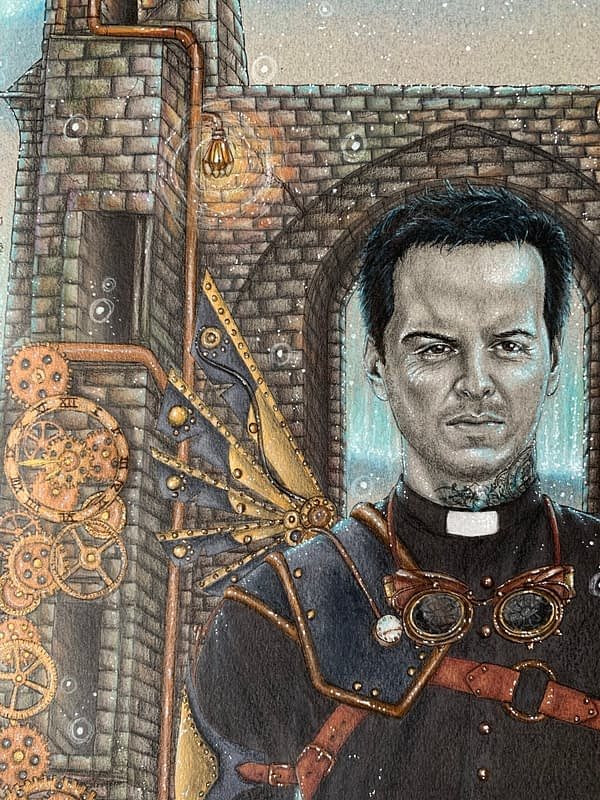 The Steampunk priest - Commission - Andrew Scott fanart