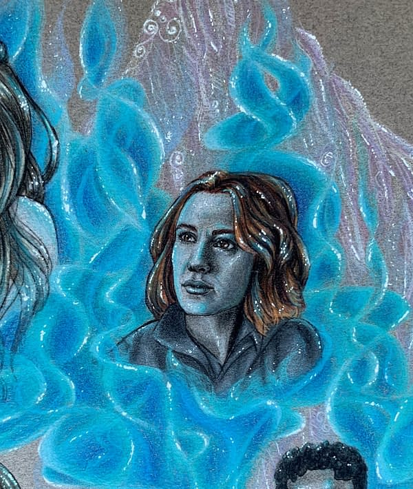 The end of times - closeup - Mixed media illustration on paper - Wynonna Earp fanart