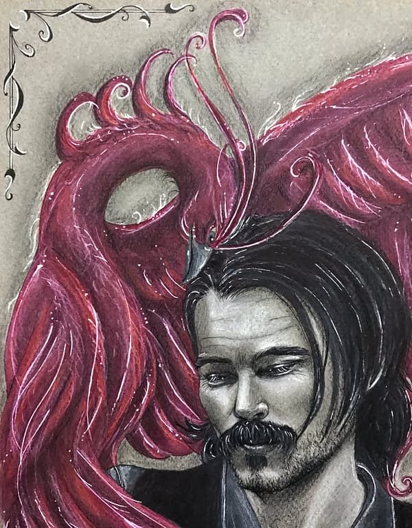 Soulmates original drawing by Lux Wood - Doc Holliday Fanart