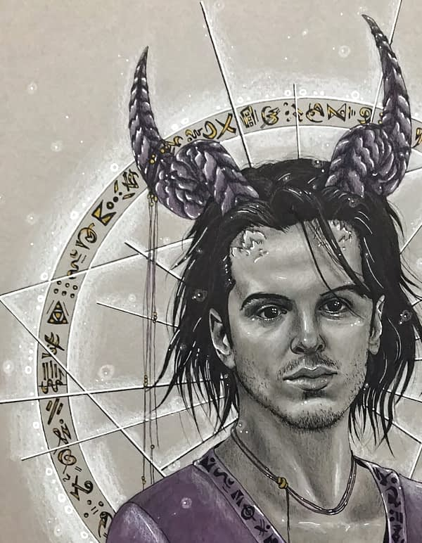 Handsome devil - Andrew Scott Fanart - original illustration