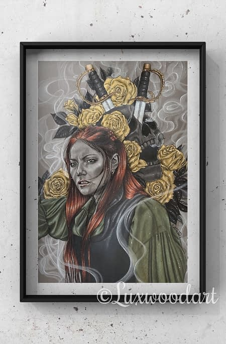Anne Bonny - mixed media illustration - Black Sails fanart
