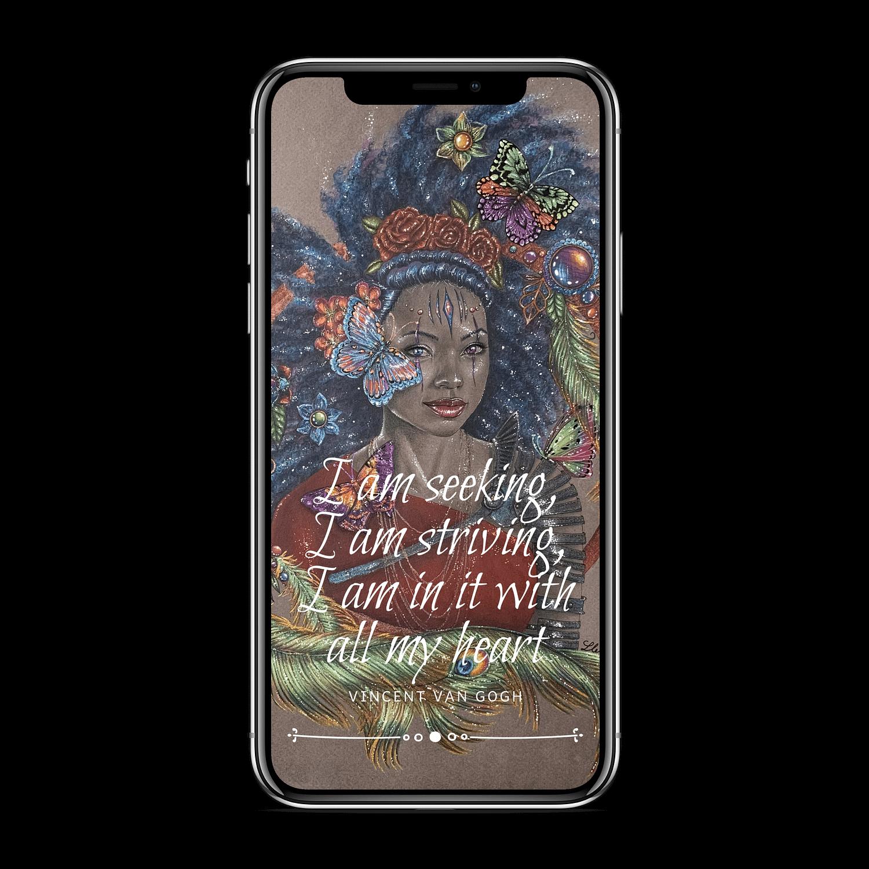 Phone wallpaper mockup
