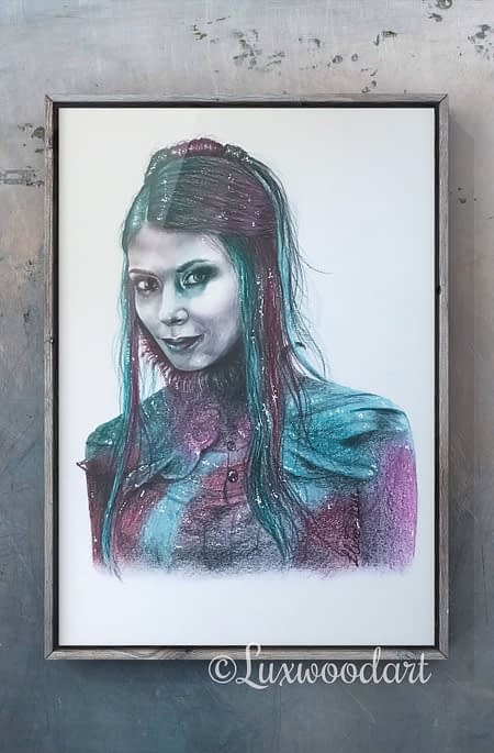 Helena - Original color pencil drawing - Hero Corp fanart