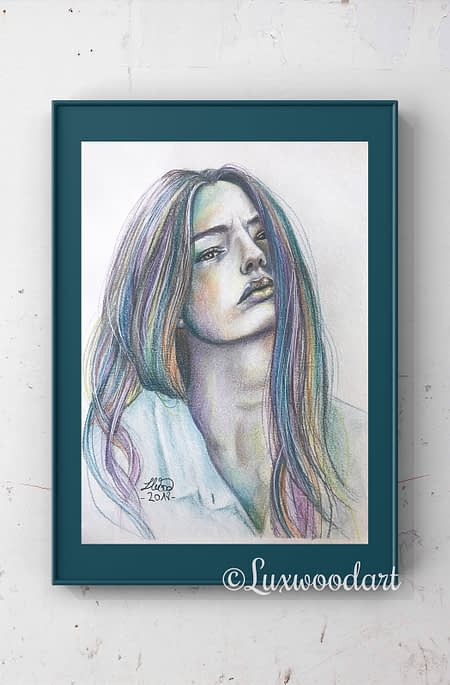 Kristine Froseth - Original color pencil drawing - fanart