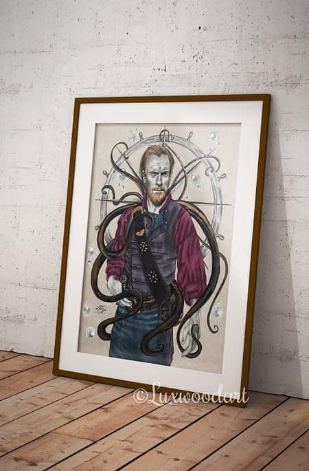 Monster original drawing by Lux Wood - Black sails fanart