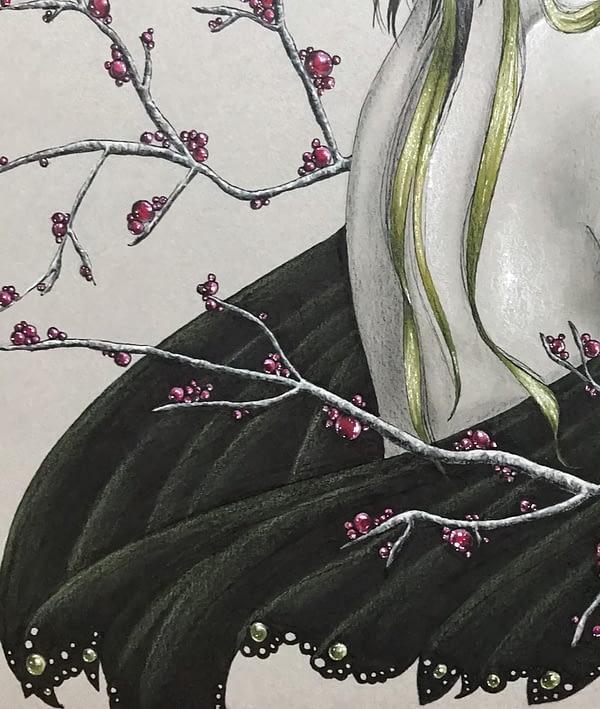 Follow me original drawing by Lux Wood - Fanart Krysten Ritter