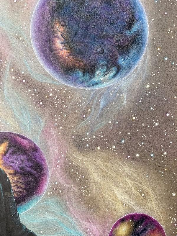 in-between worlds - Original illustration - Star Trek Fanart