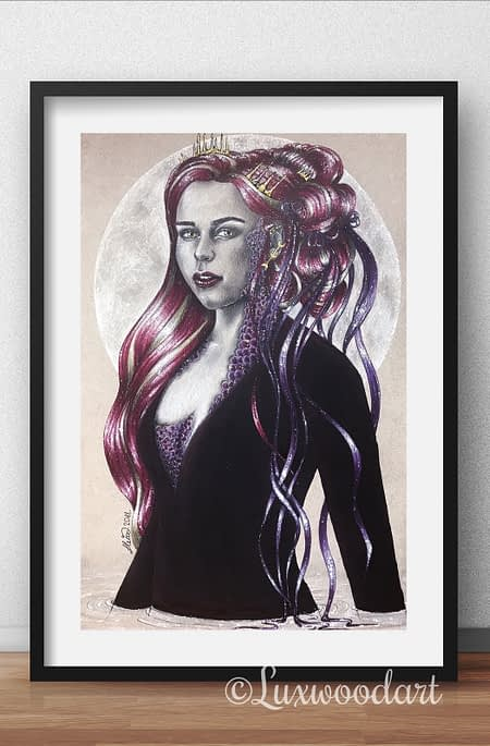 The Queen of the seven seas - original illustration - Game of Thrones art