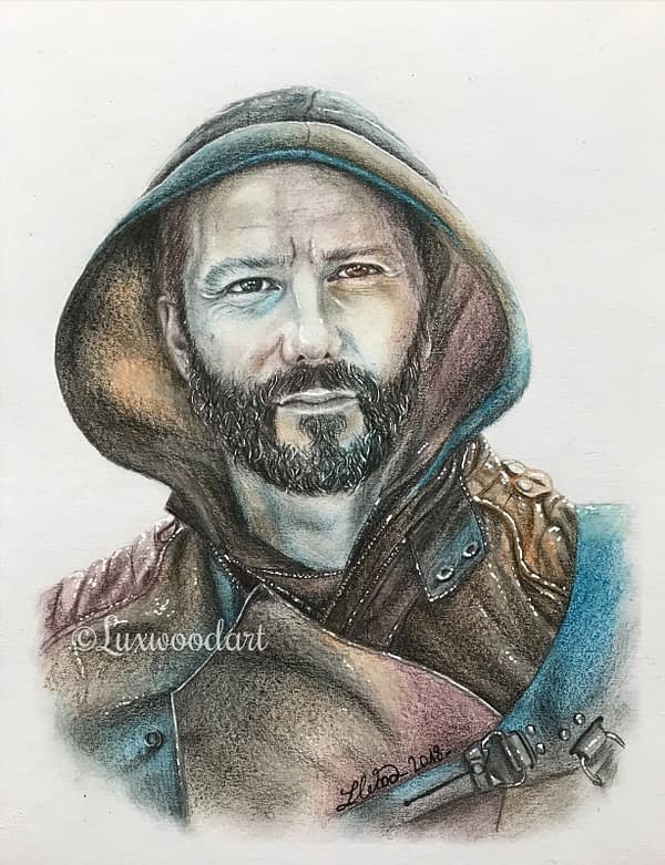 Doug - Original color pencil drawing - Hero Corp fanart