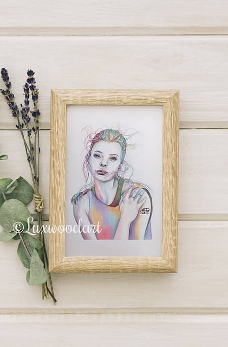 Kristine Froseth portrait 3 - Original color pencil drawing - fanart