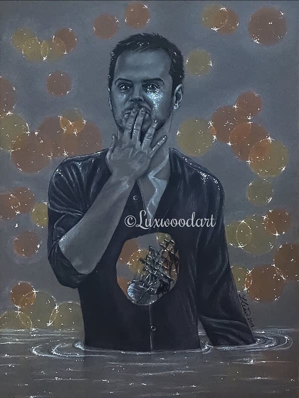 The Shipwreck original drawing by Lux Wood - Andrew Scott fanart