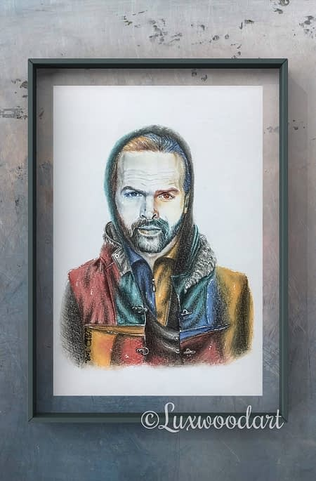 Klaus - Original color pencil drawing - Hero Corp fanart