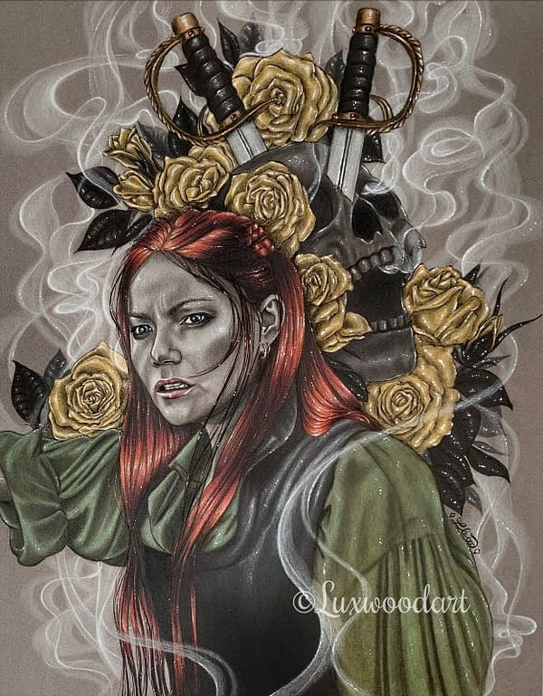 Anne Bonny - Mixed media illustration on paper - Black Sails fanart
