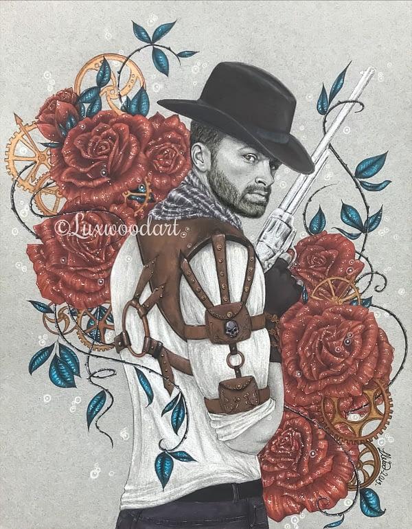 The Steampunk cowboy - Original illustration - Hero Corp Fanart