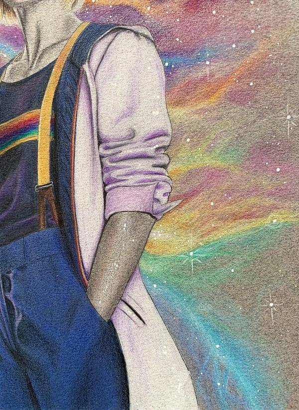 The 13th rainbow - Original mixed media illustration - Doctor Who fanart