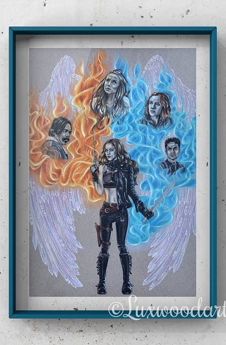The End of times - Mixed media illustration on paper - Wynonna Earp