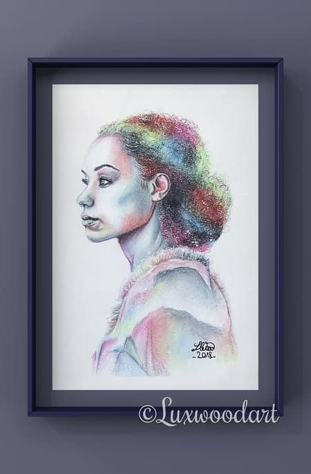 Logan Browning - Original color pencil drawing - fanart