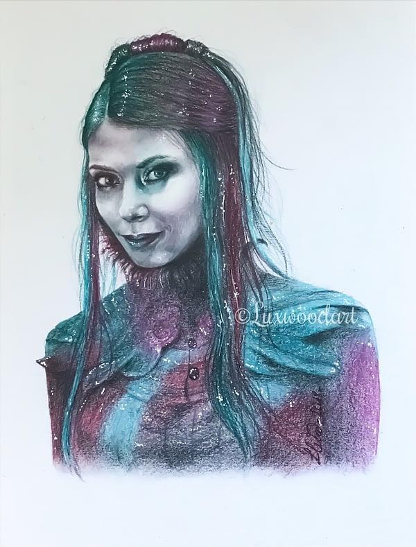 Helena - Original color pencil drawing - Hero Corp fanart