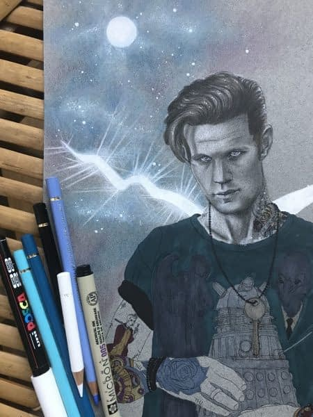Galaxies and tattoos are cool - work in progress - Doctor Who
