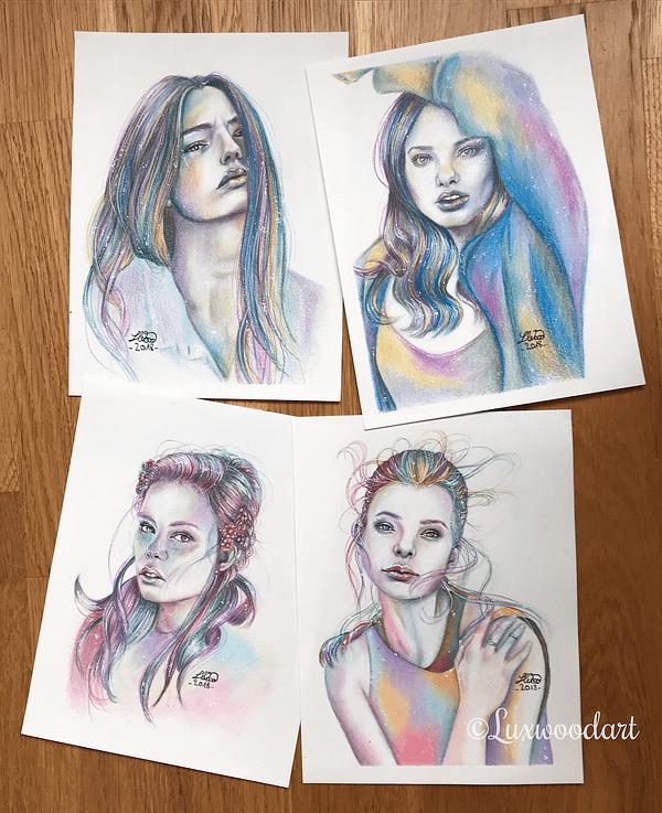 Kristine Froseth - Original color pencil drawing - fanart