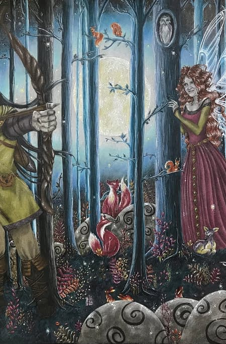 The Fairy and the archer - Lux Wood Art
