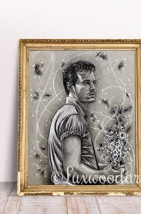Gethin original illustration- Fanart of Andrew Scott in Pride