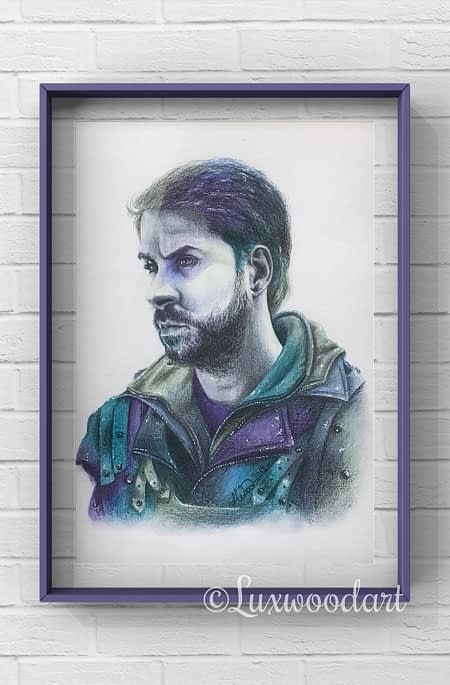 John - Original color pencil drawing - Hero Corp fanart