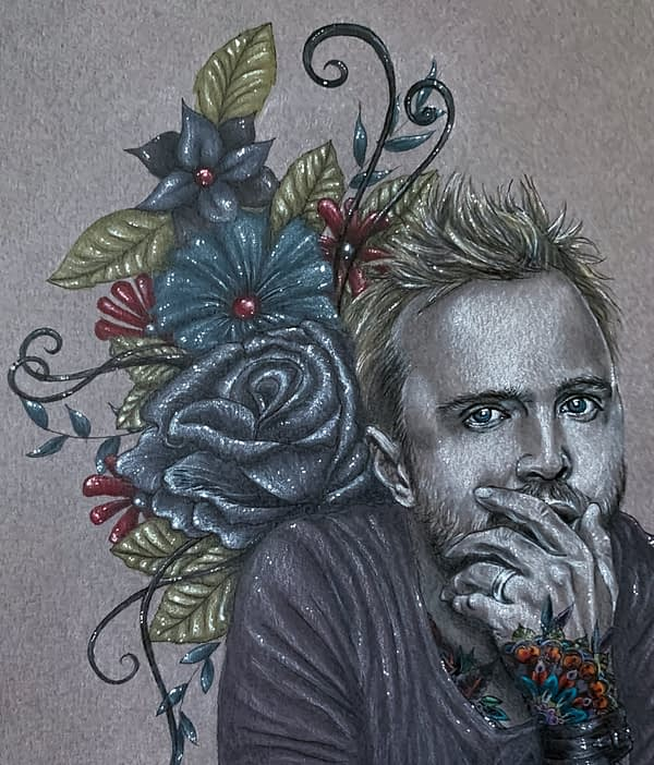 So Blue original illustration - portrait of Aaron Paul - Fanart
